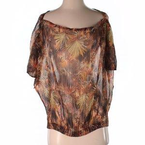 NWOT Jean Paul Gaultier Short Sleeve Silk Top